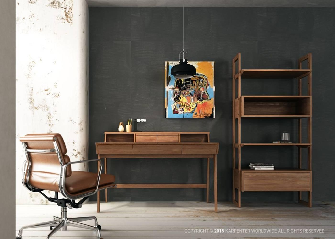 Soho Wall Unit Double - European Oak