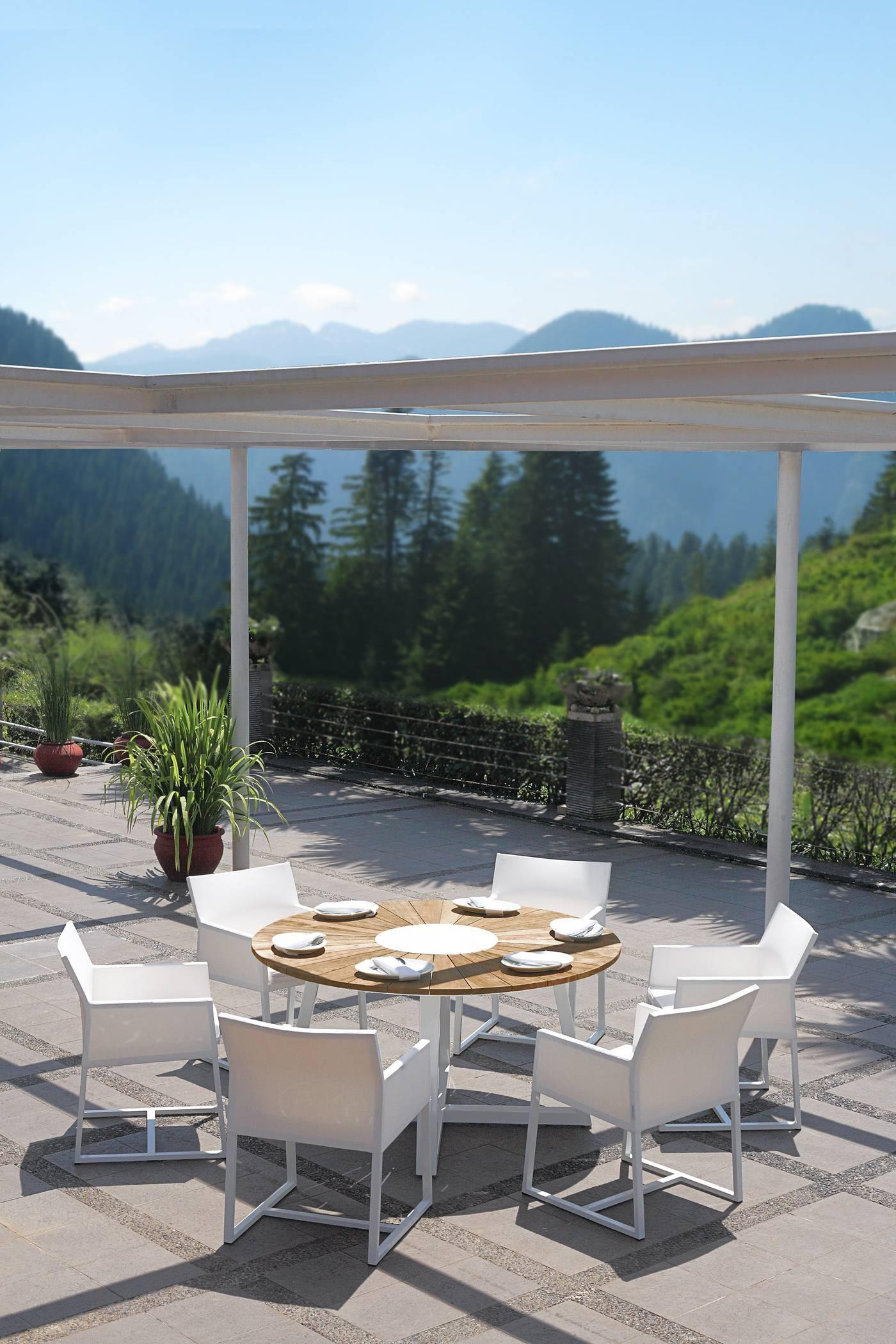 Baia Round Dining Table 150 cm - Teak