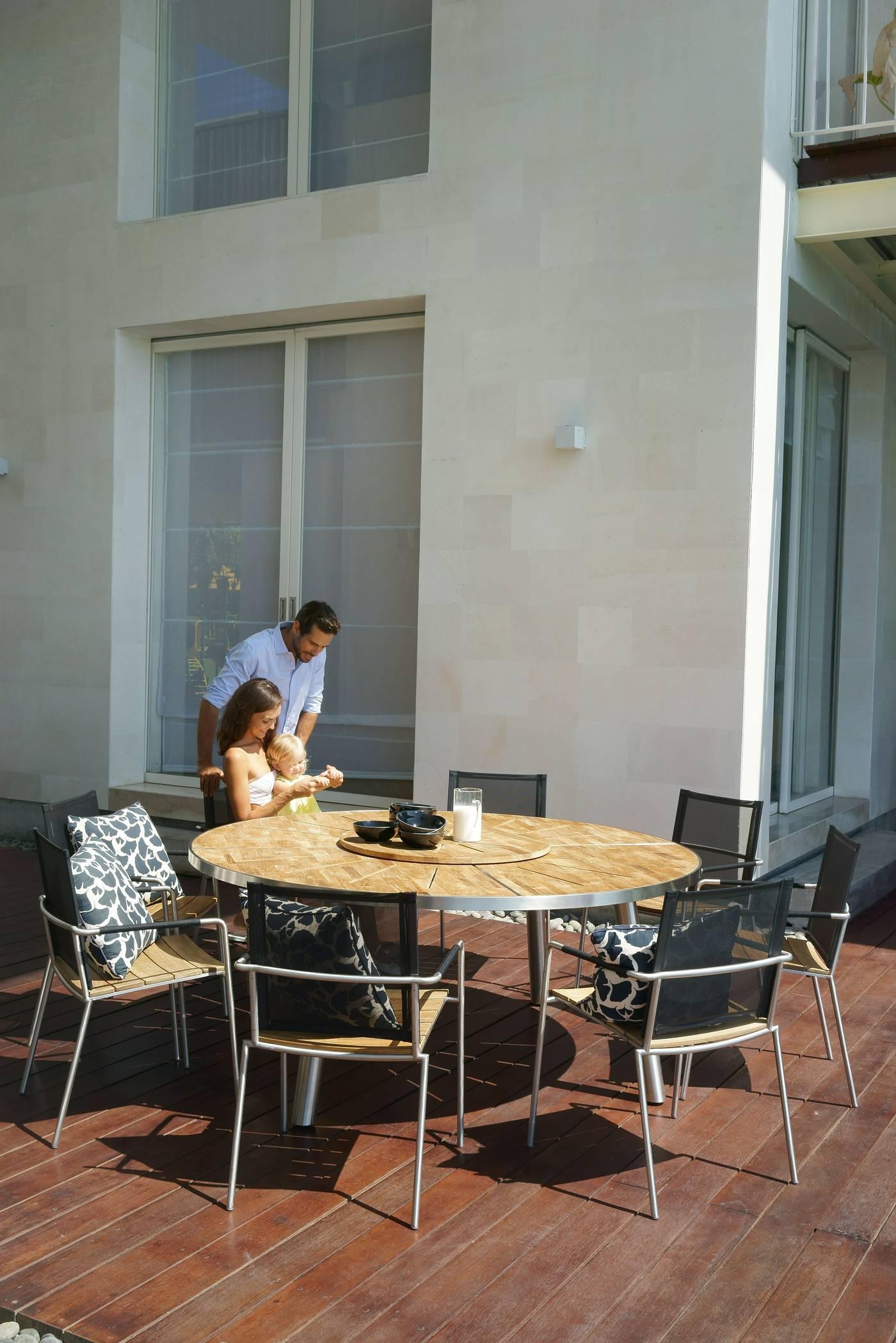 Meika Round Dining Table 180 cm - HPL