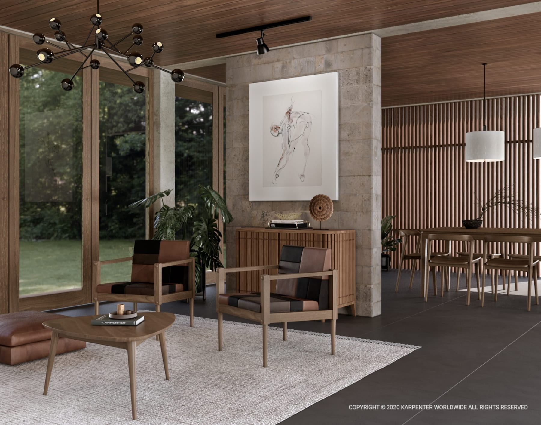 Koppar King Bed without Storage  - European Oak
