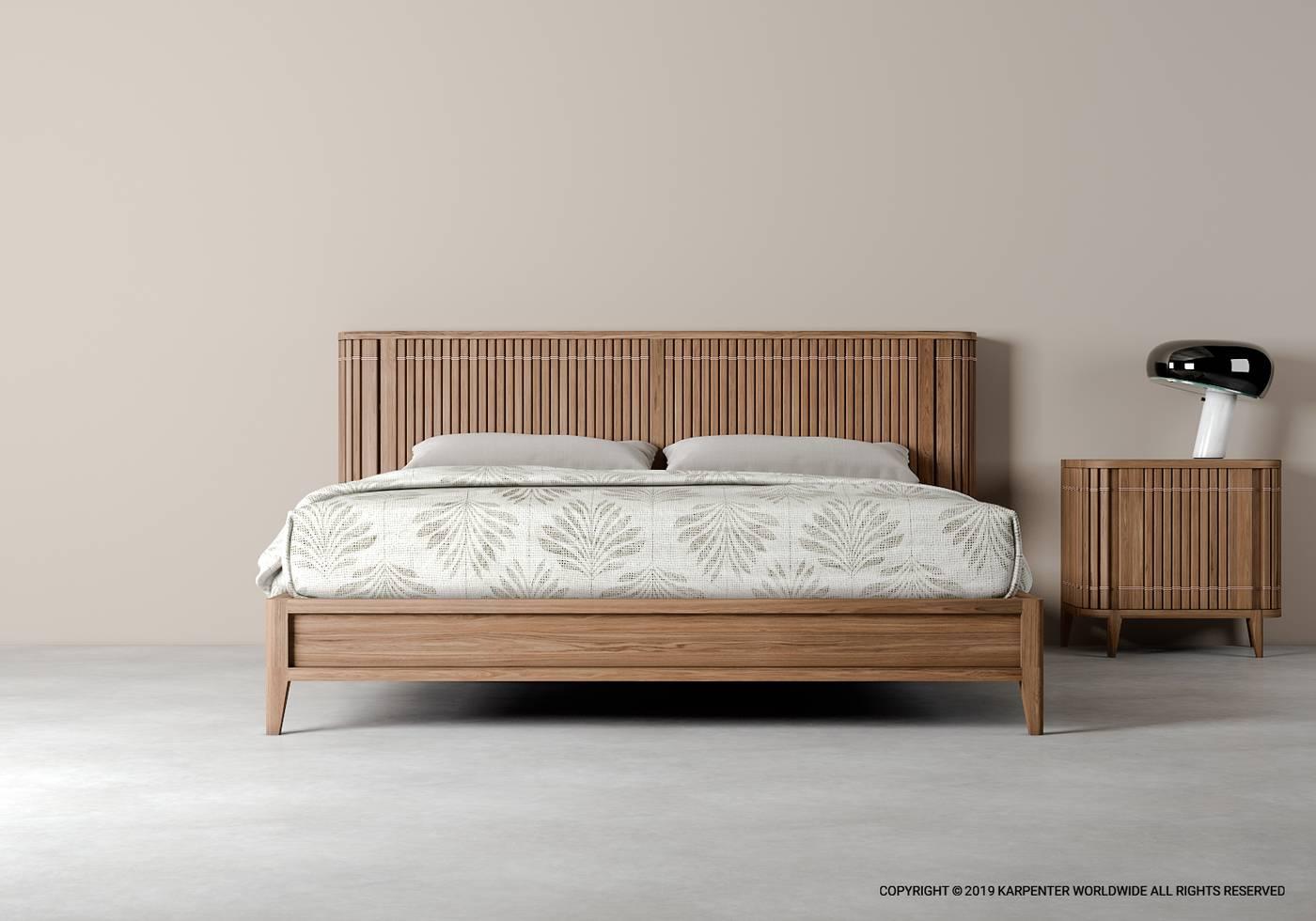 Koppar Queen bed without Storage - European Oak