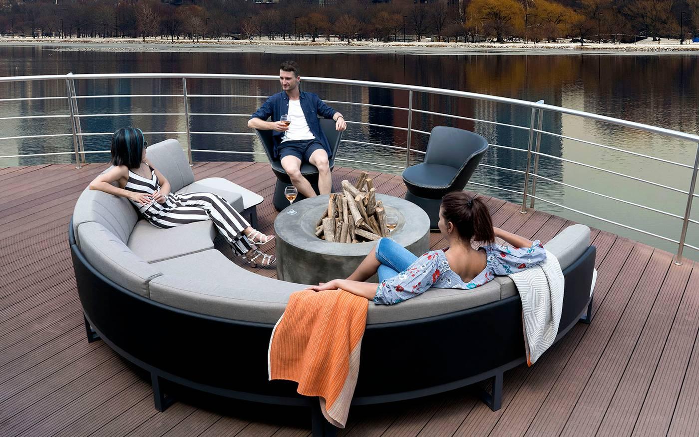 BABBO Configuration 1 Lounge - Teak