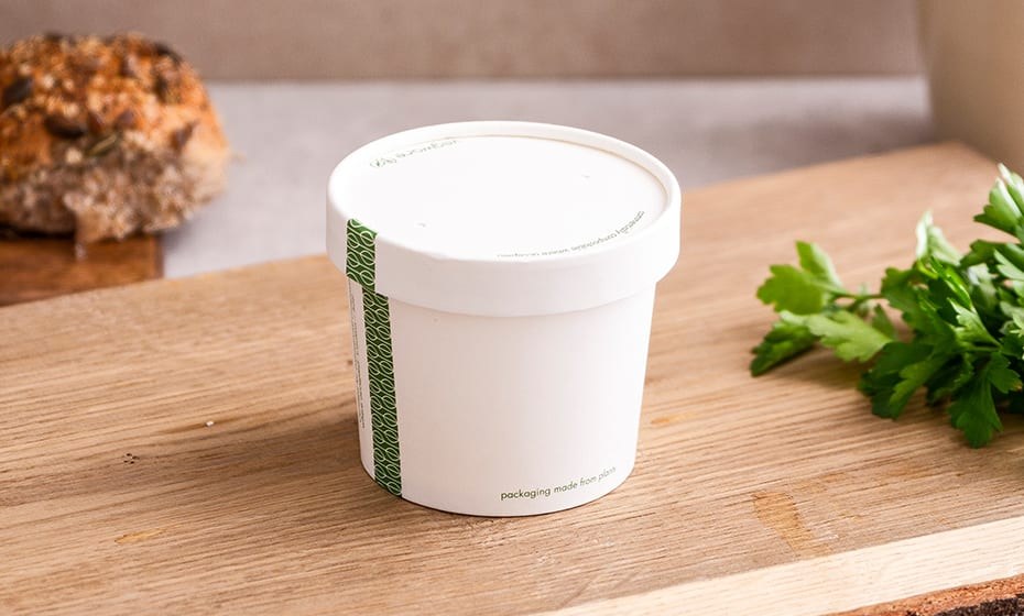 Paper Lid w Vents - White - 90 Series