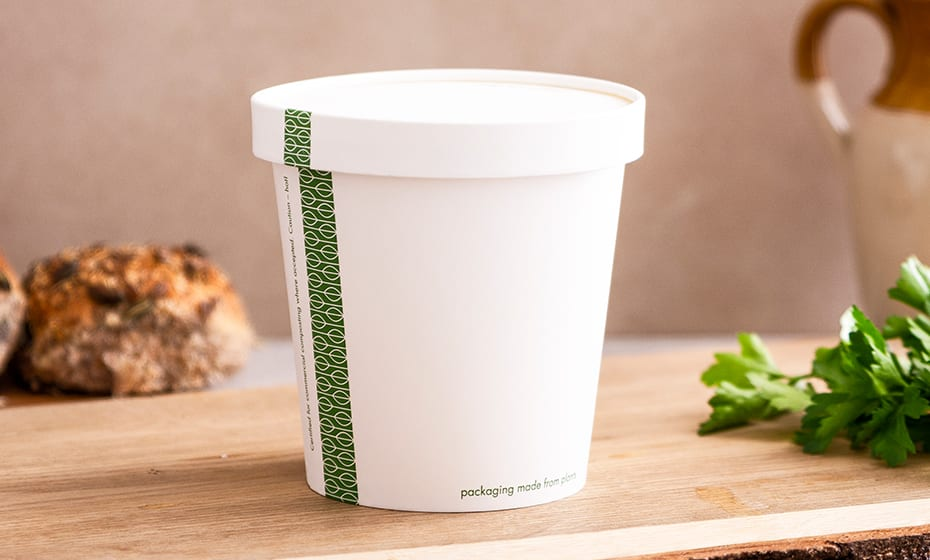 Paper Lid w Vents - White - 115 Series