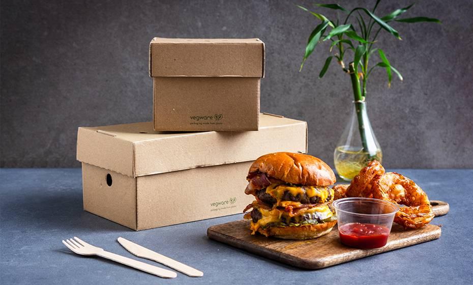 9 x 5 inch Premium Cardboard Burger Box - Kraft