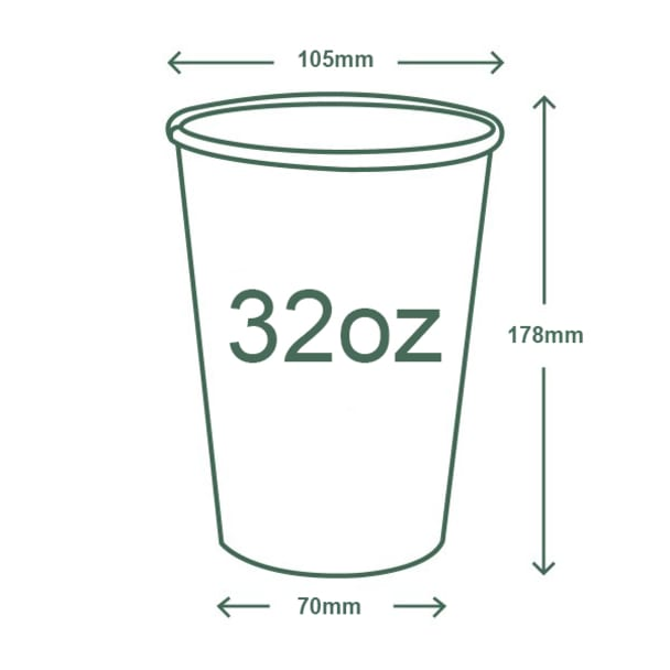 32oz (1000ml) paper cold cup - 105 Series