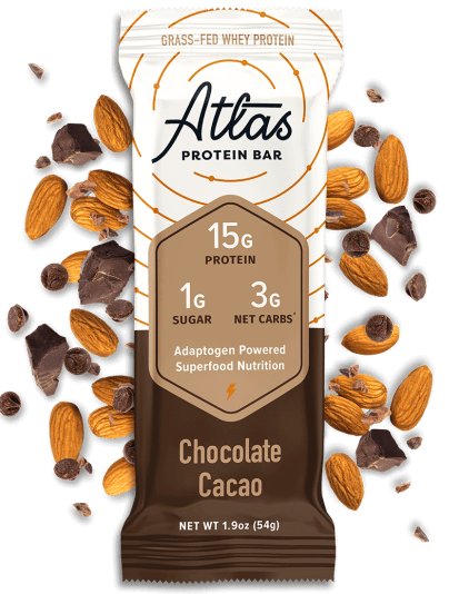 Atlas Bar Chocolate Cacao with ingredients