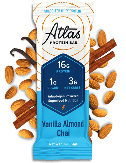 Atlas Bar Vanilla Almond Chai with ingredients