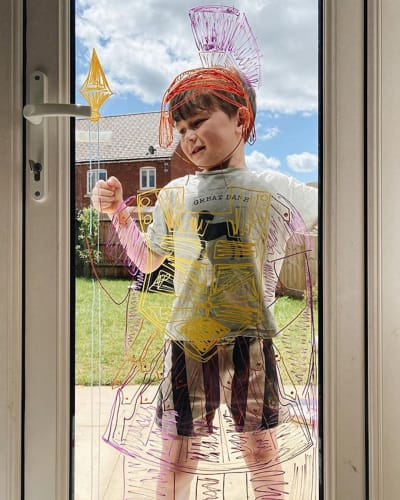 Window Art Kid