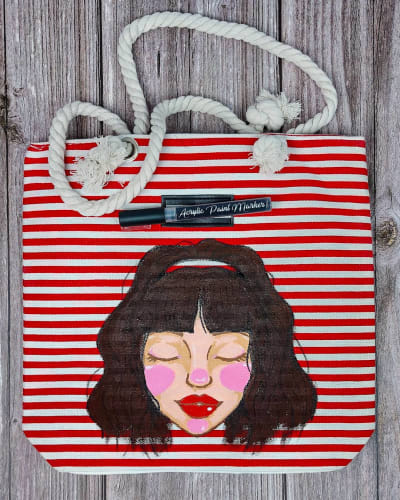 DIY Painting on Tote Bag Using Acrylic Paint
