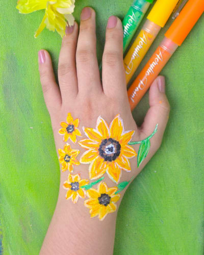 Hand Flower Painting
