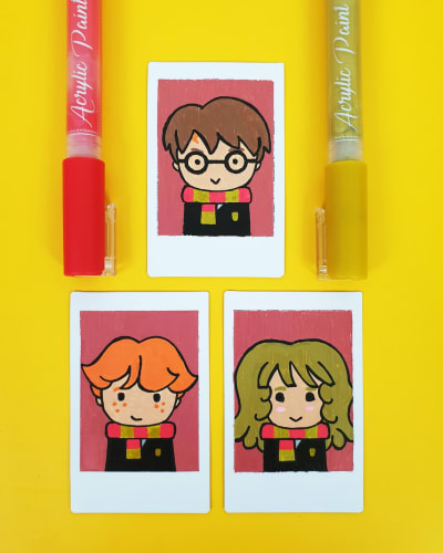 Acrylic Paint Pens - Harry Potter Painting