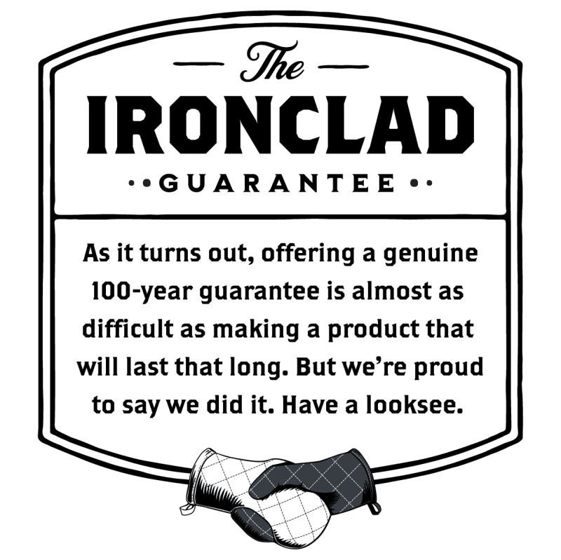 The Ironclad Three Generations Guarantee