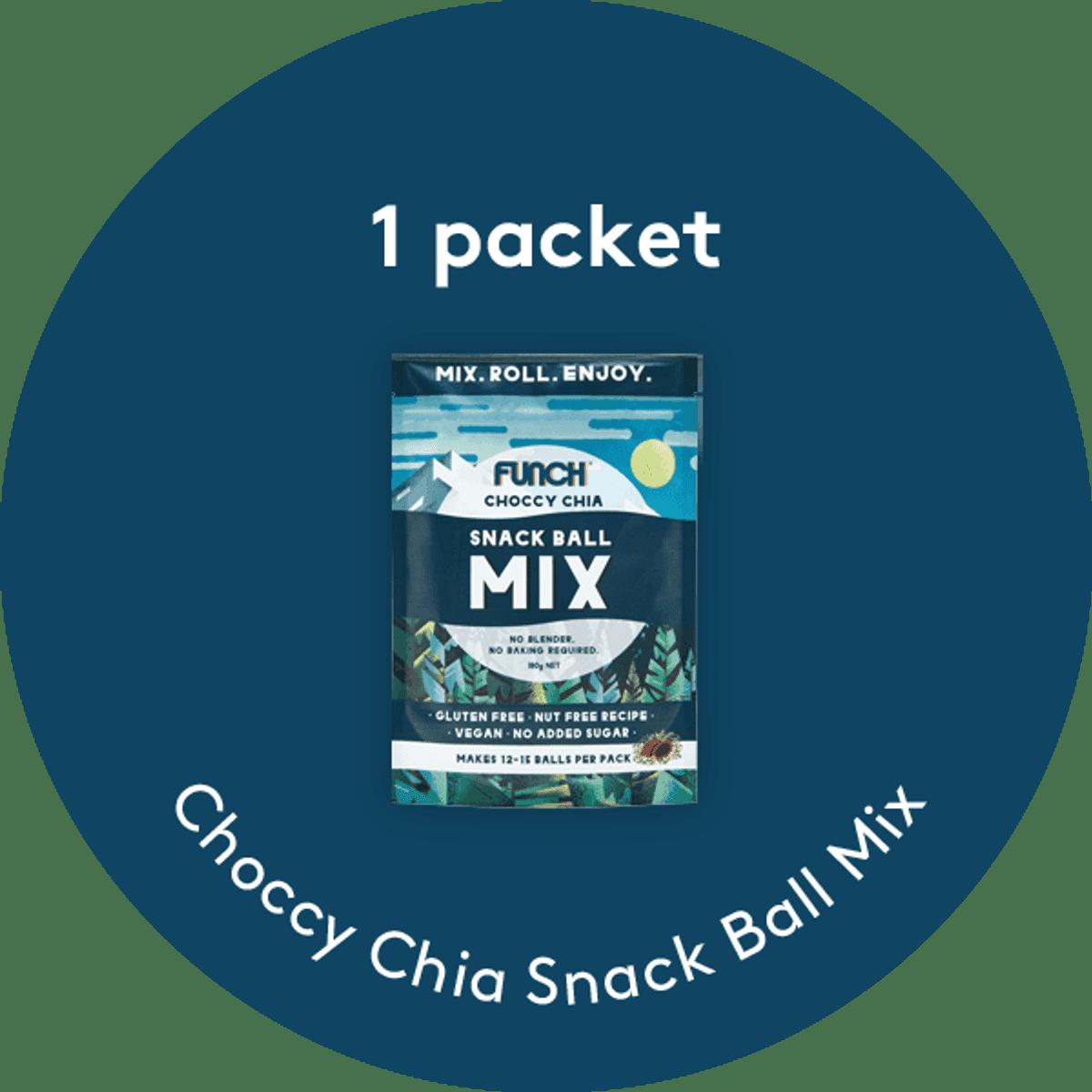 Choccy Chia Snack Ball Mix