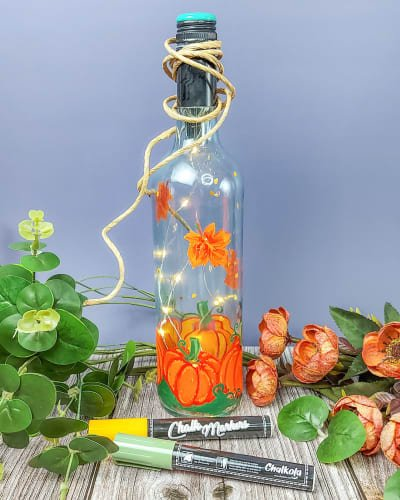 DIY Decorated Glass Bottle