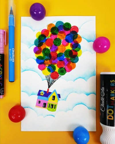Dot Markers & Watercolour Brush Pens