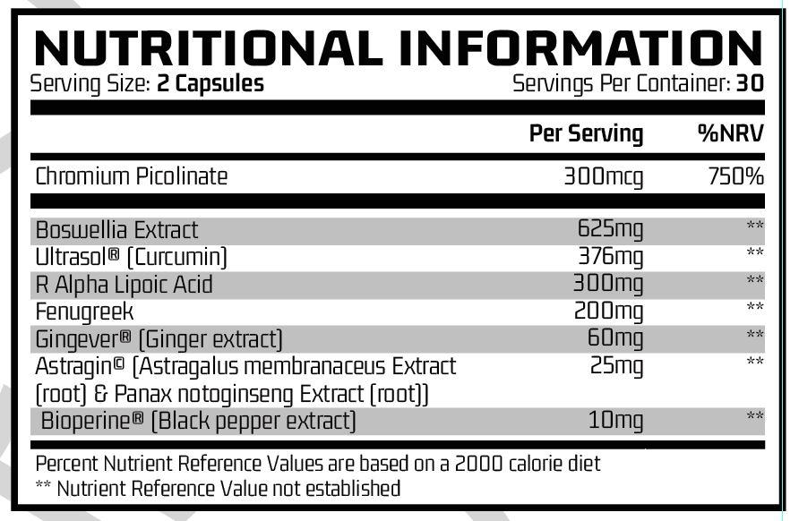 Barricade - Inflammation Support (30 Servings) ingredients