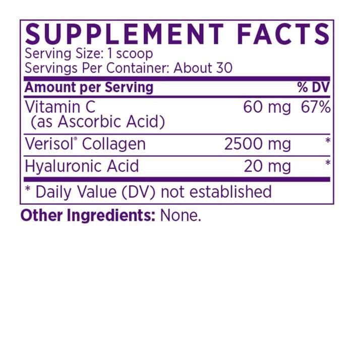 Collagen Peptides Powder Supplement Facts
