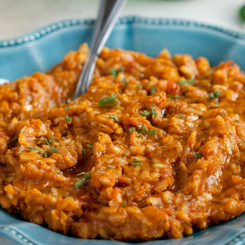 Butternut risotto made with Sonoma Gourmet's butternut squash sauce