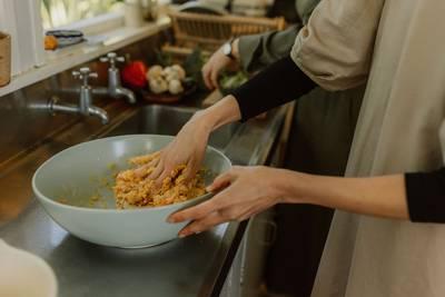 Kumara Galette with Seasonal Vegetables and Feta