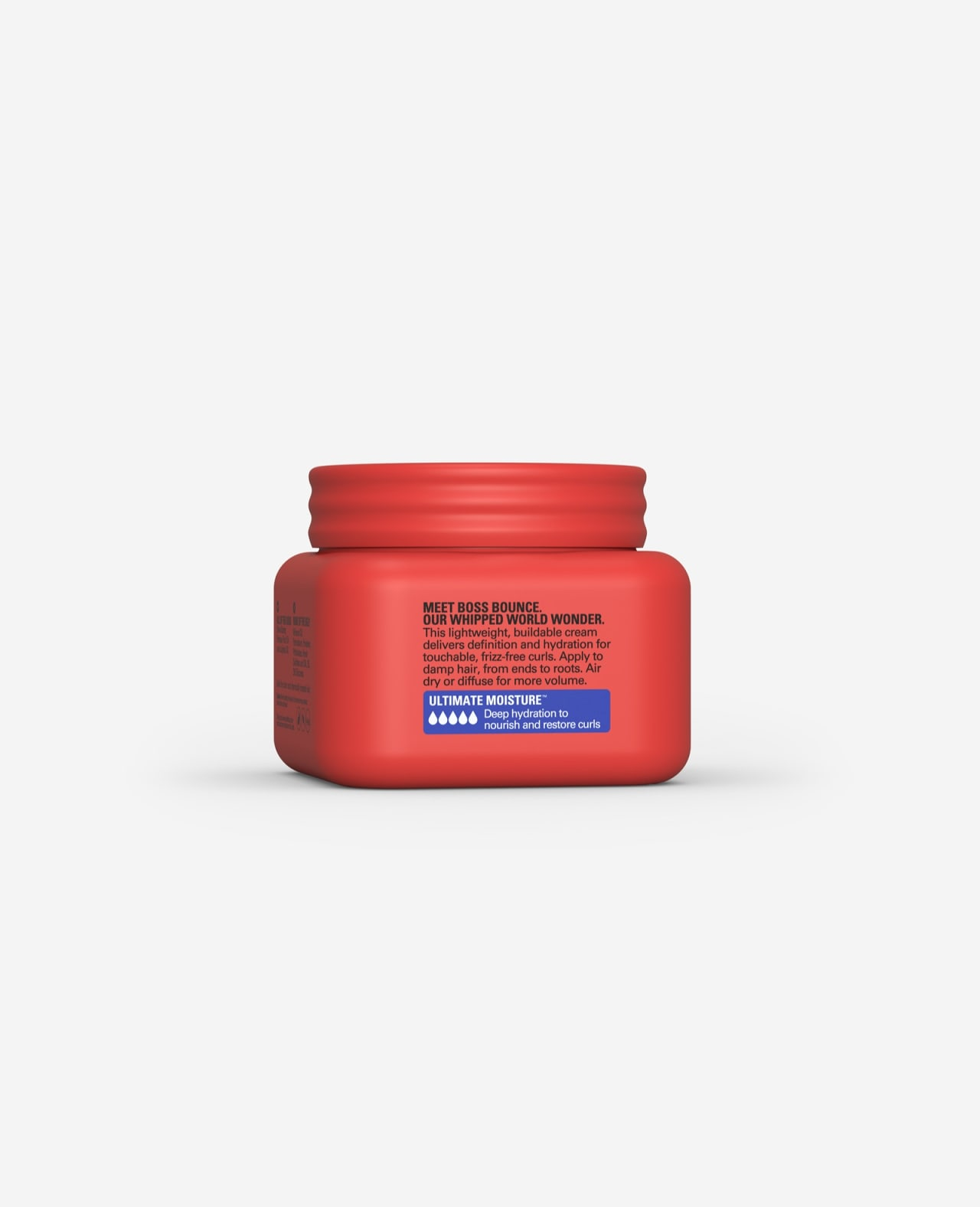 Twist Boss Bounce Buildable Styling Cream Ultimate Moisture  for Curls 8.5 oz. description side of container