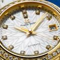 Grand Seiko wristwatch STGK004 - dial closeup showcasing the snowflake motif.