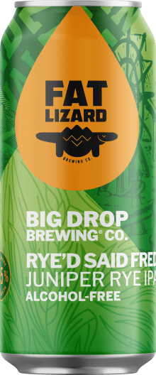A pack image of Big Drop's Rye'd Said Fred Juniper Rye IPA