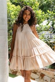 Tuxford Dress - Beige