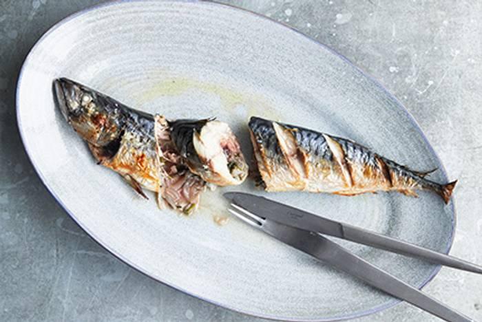 Whole Mackerel with Oregano recipe image