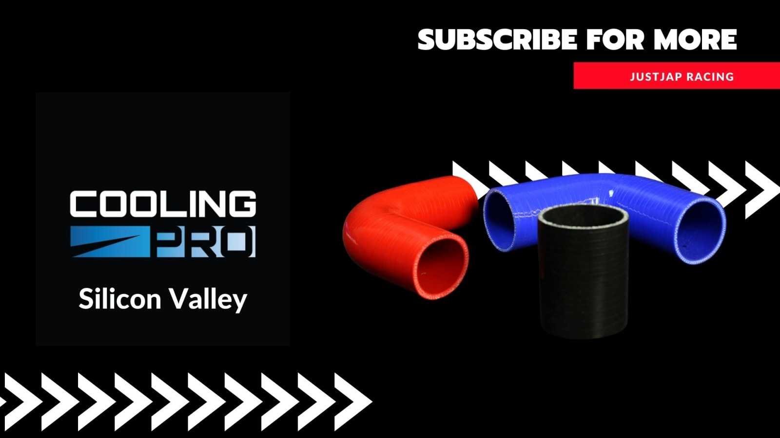 Cooling Pro Silicone 2.25 Inch / 57mm Straight Hose - 1 Metre