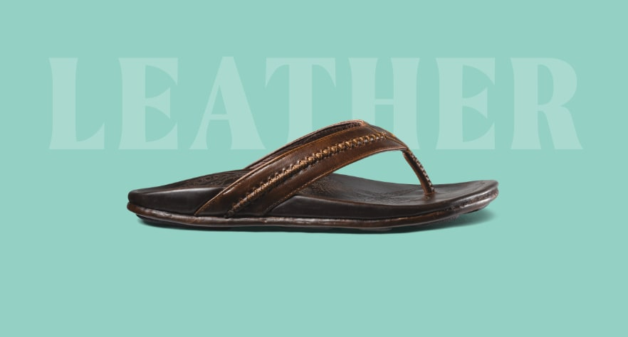 OluKai Men's Leather Sandals