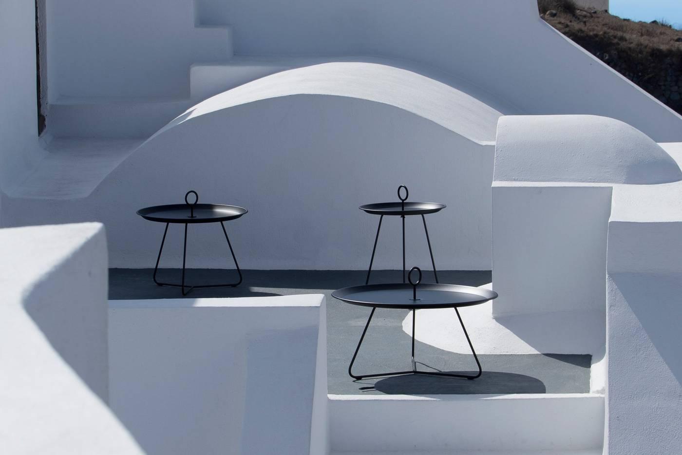Eyelet Tray Table - White Medium