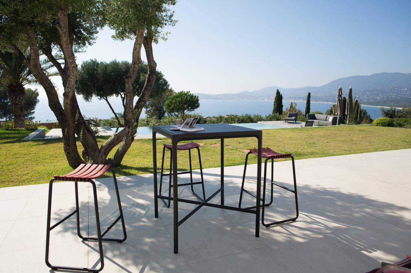 Four Table - Bamboo   Black 160cm