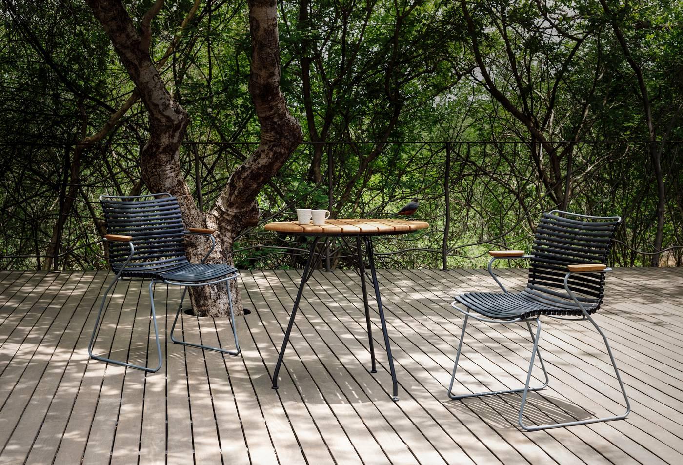 Circum Table - Bamboo | Black 74cm