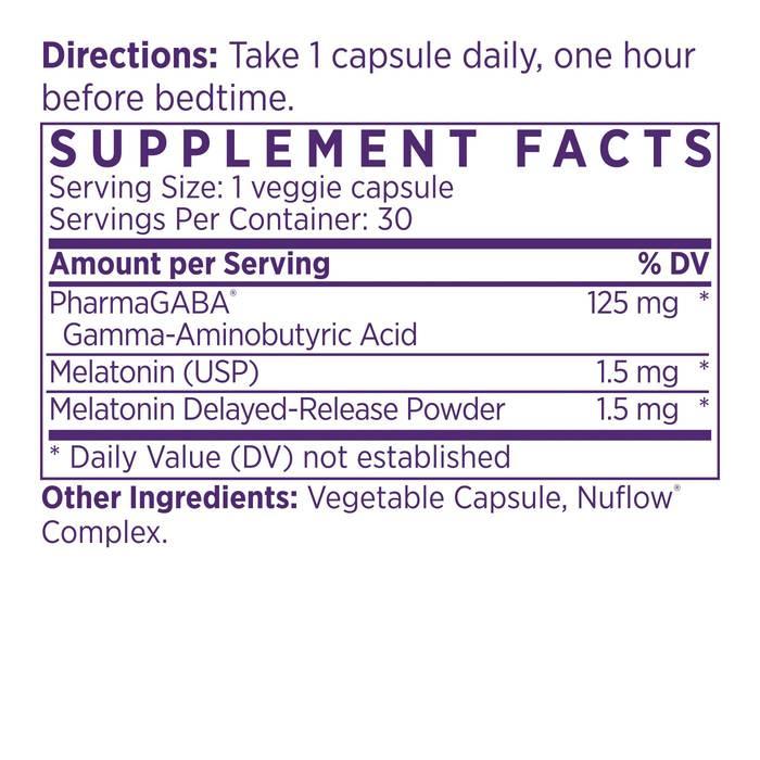 SleepAdapt Supplement Facts