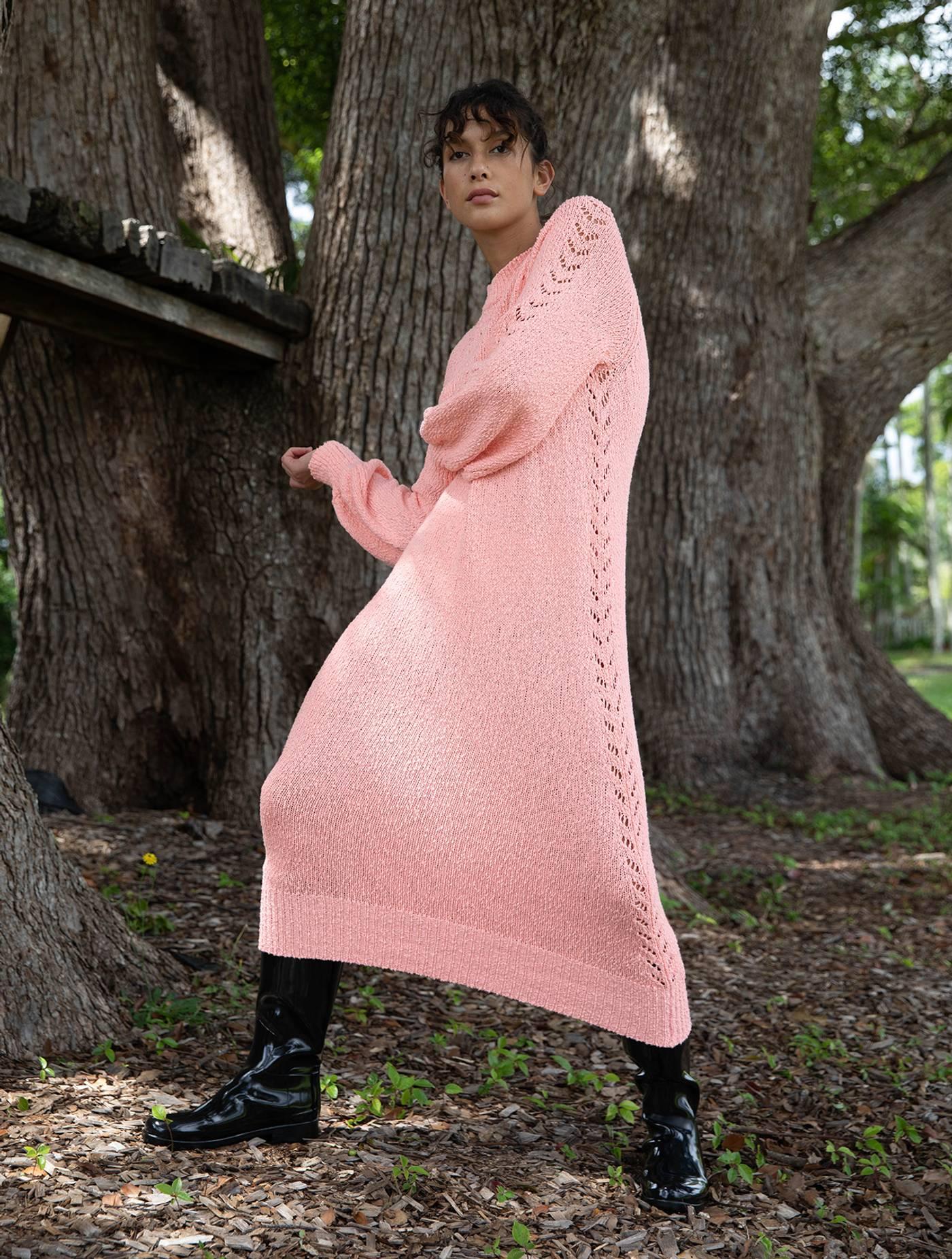 Aurelle Knit Dress - Strawberry Cream