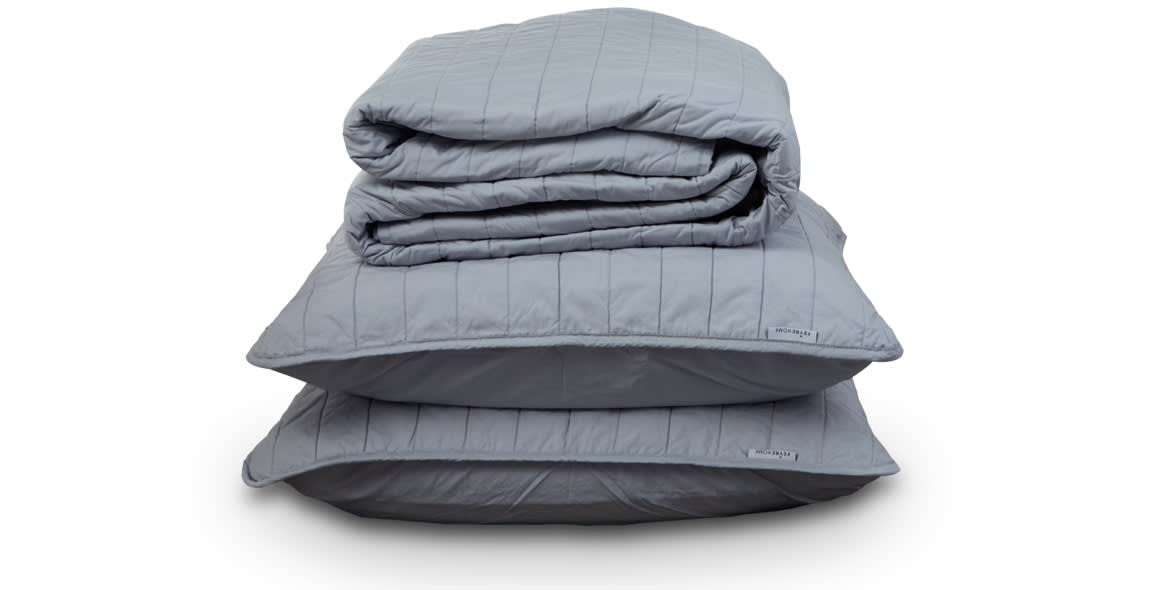 Silver Quilted Bedspread Set 100% Supima® Cotton