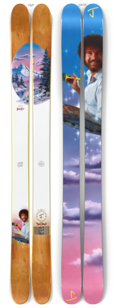 """The Allplay """"THE JOY OF SKIING 2"""" Bob Ross x J Collab Limited Edition Ski"""