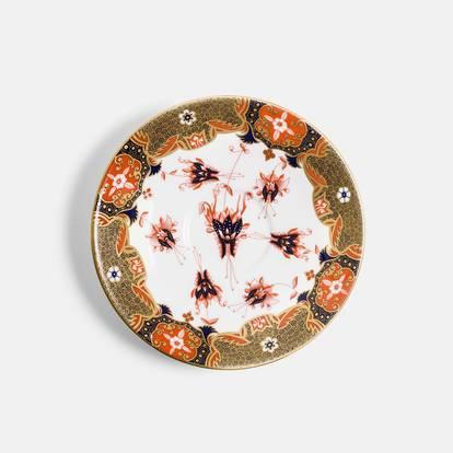 V&A Dragon Flower Reflect Gold Teacup and Saucer Set