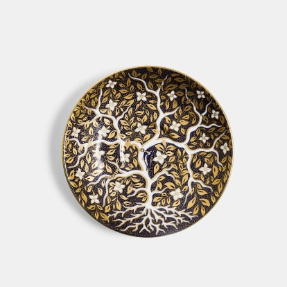 V&A Tree of Life Reflect Platinum Teacup and Saucer Set