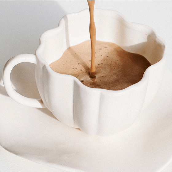 Stir into your coffee or other hot beverage