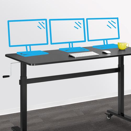Fits Three Monitors