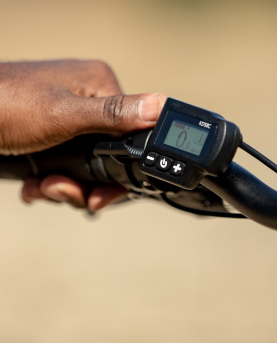 Pedal assist levels display