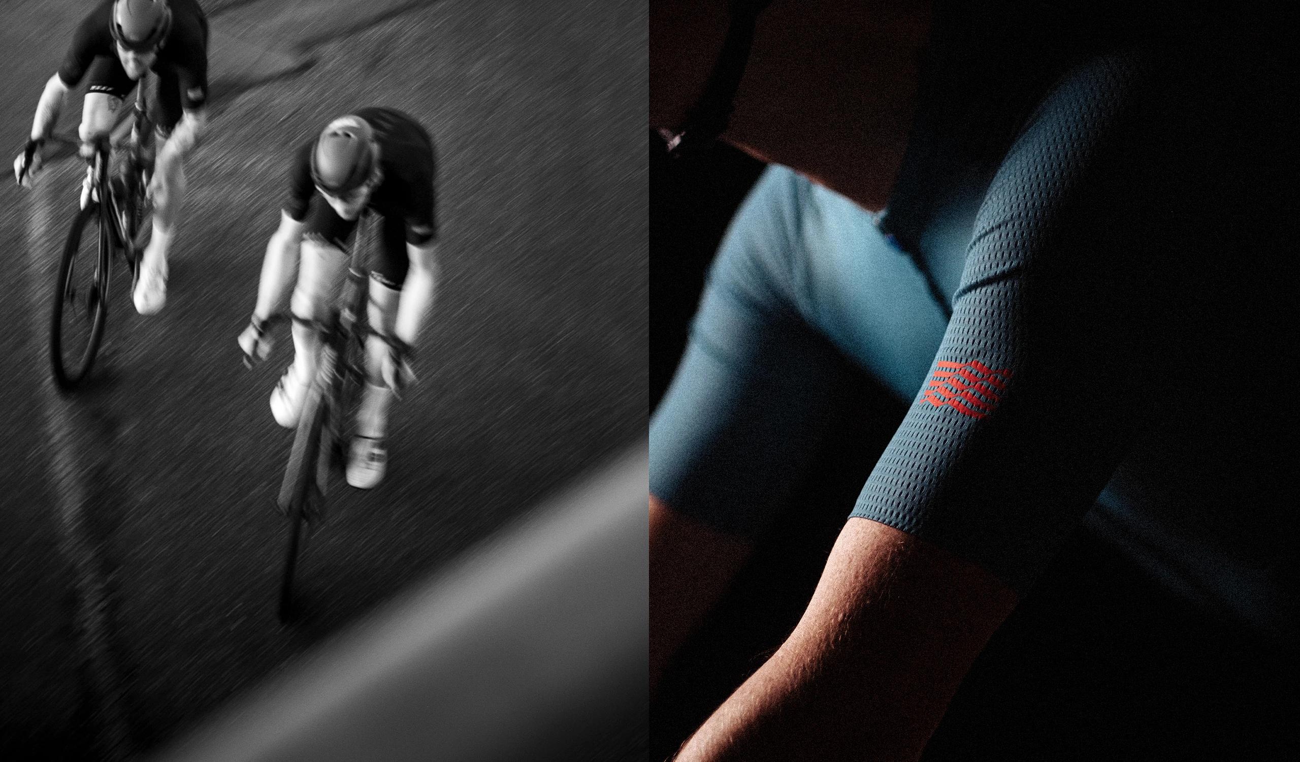 Men's Stealth Race Fit Jersey / Cyan