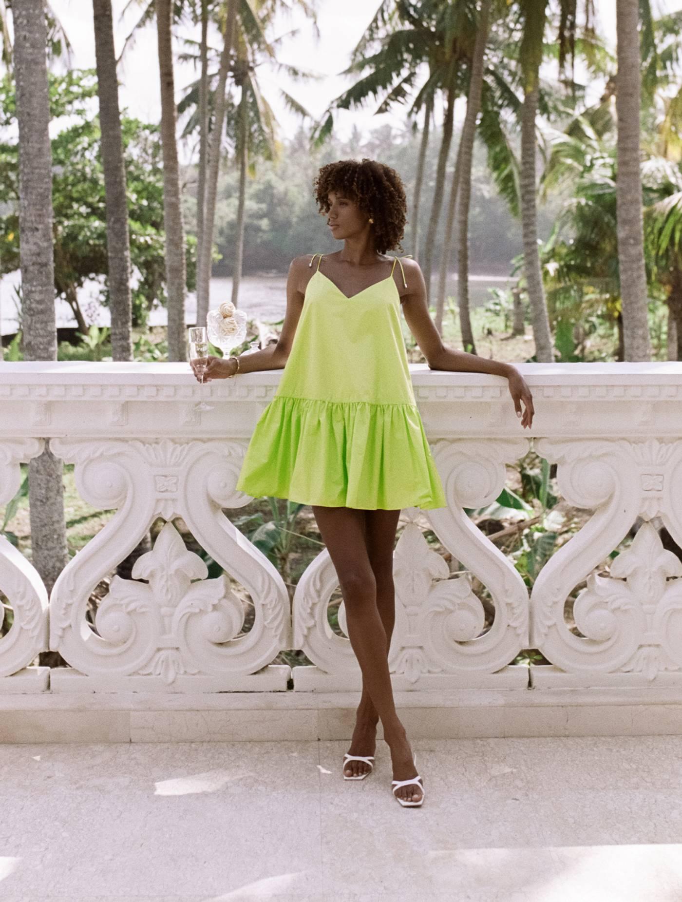Sonia Dress - Green Fields