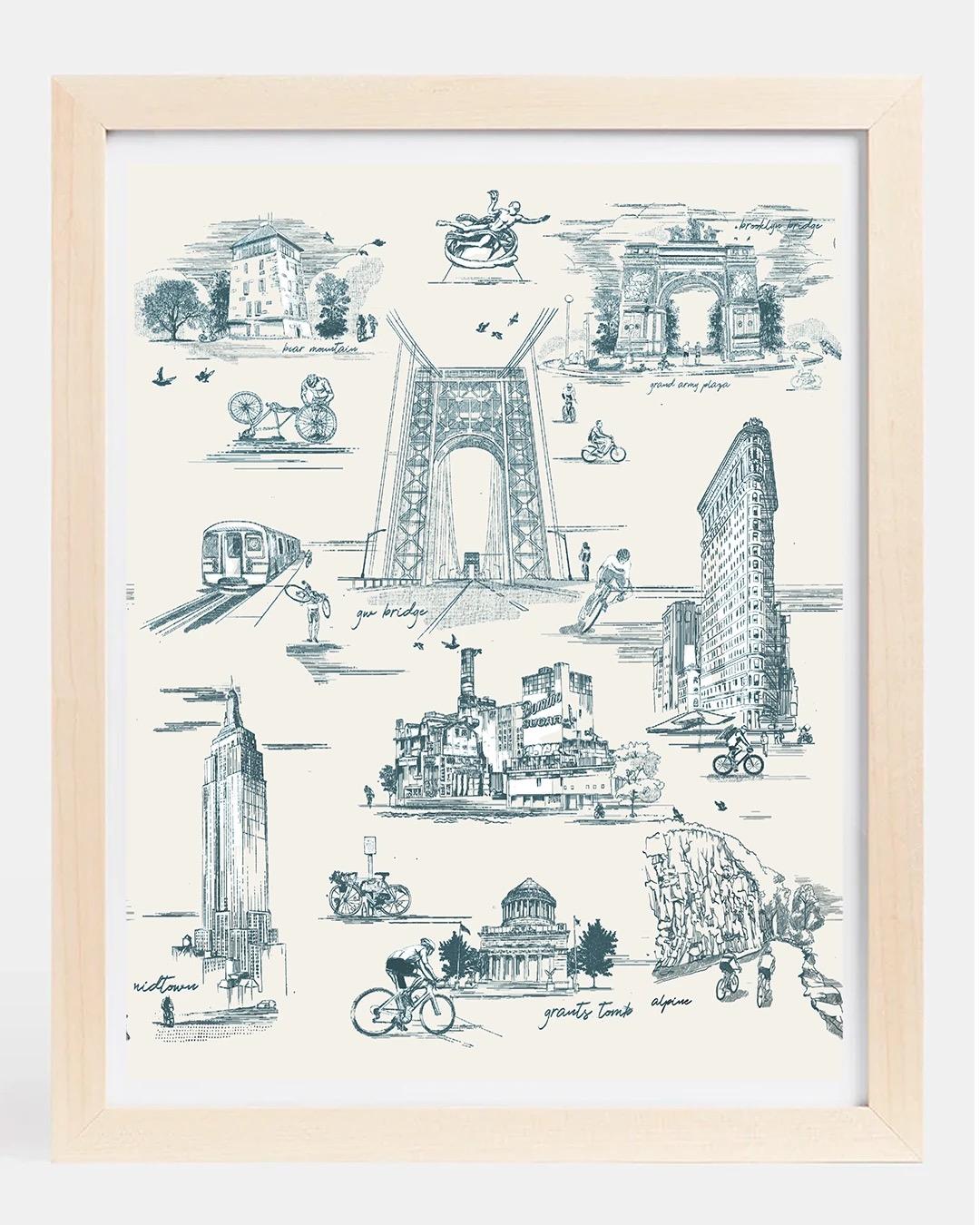 NYC Monuments Print