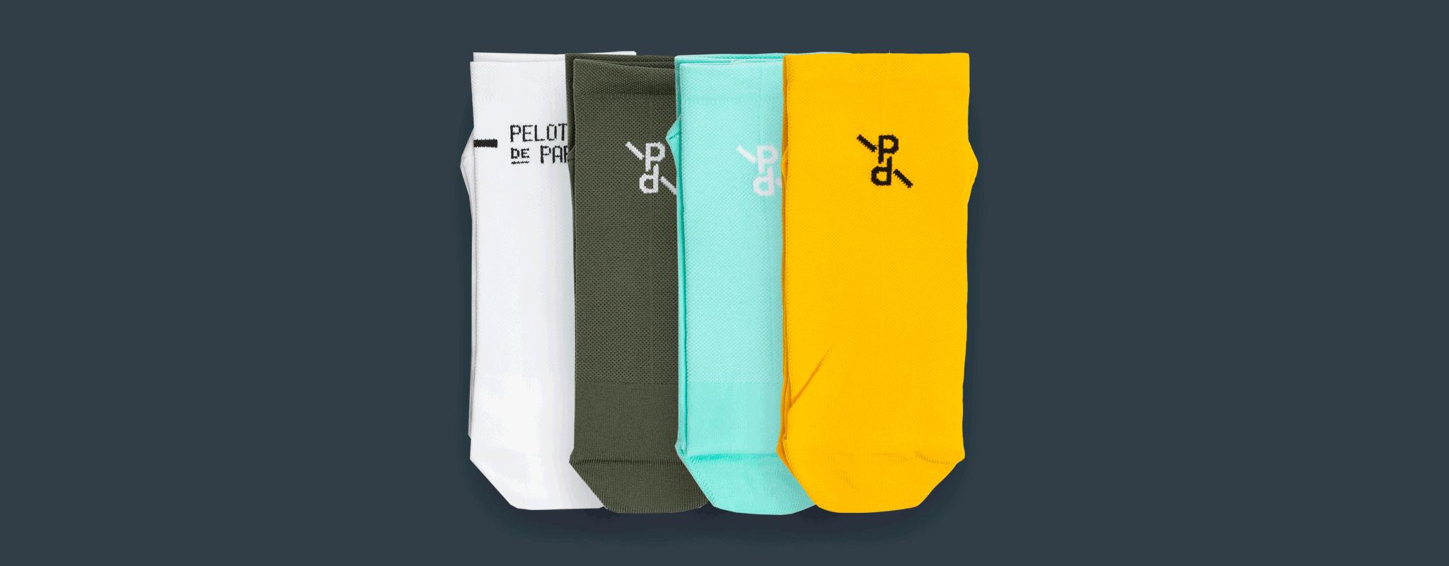 Two-Tone PLTN Socks / Ochre-Grey