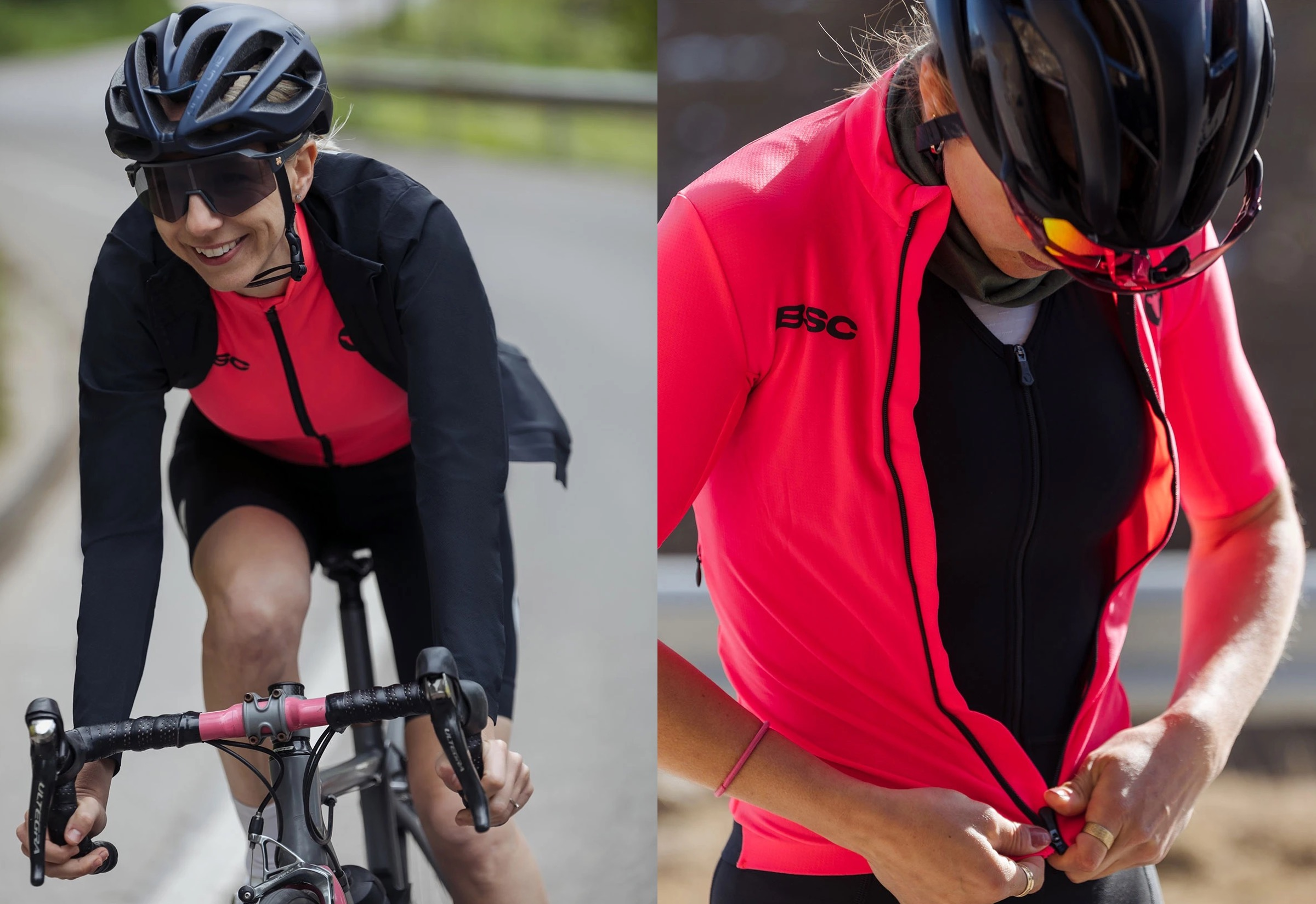 Women's Elements LS Thermal Jersey / Neon Pink