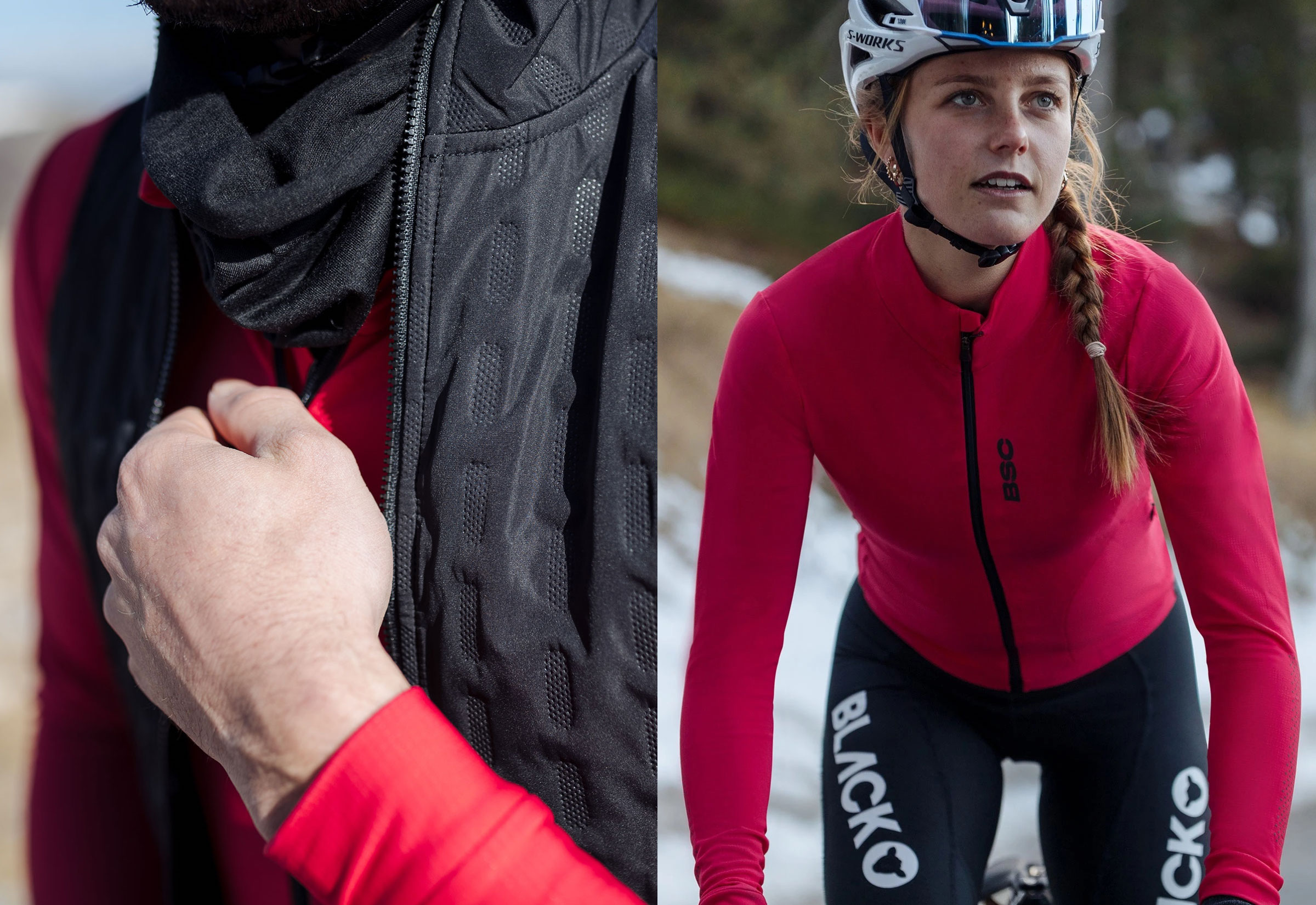 Women's Elements LS Thermal Jersey / Jester Red