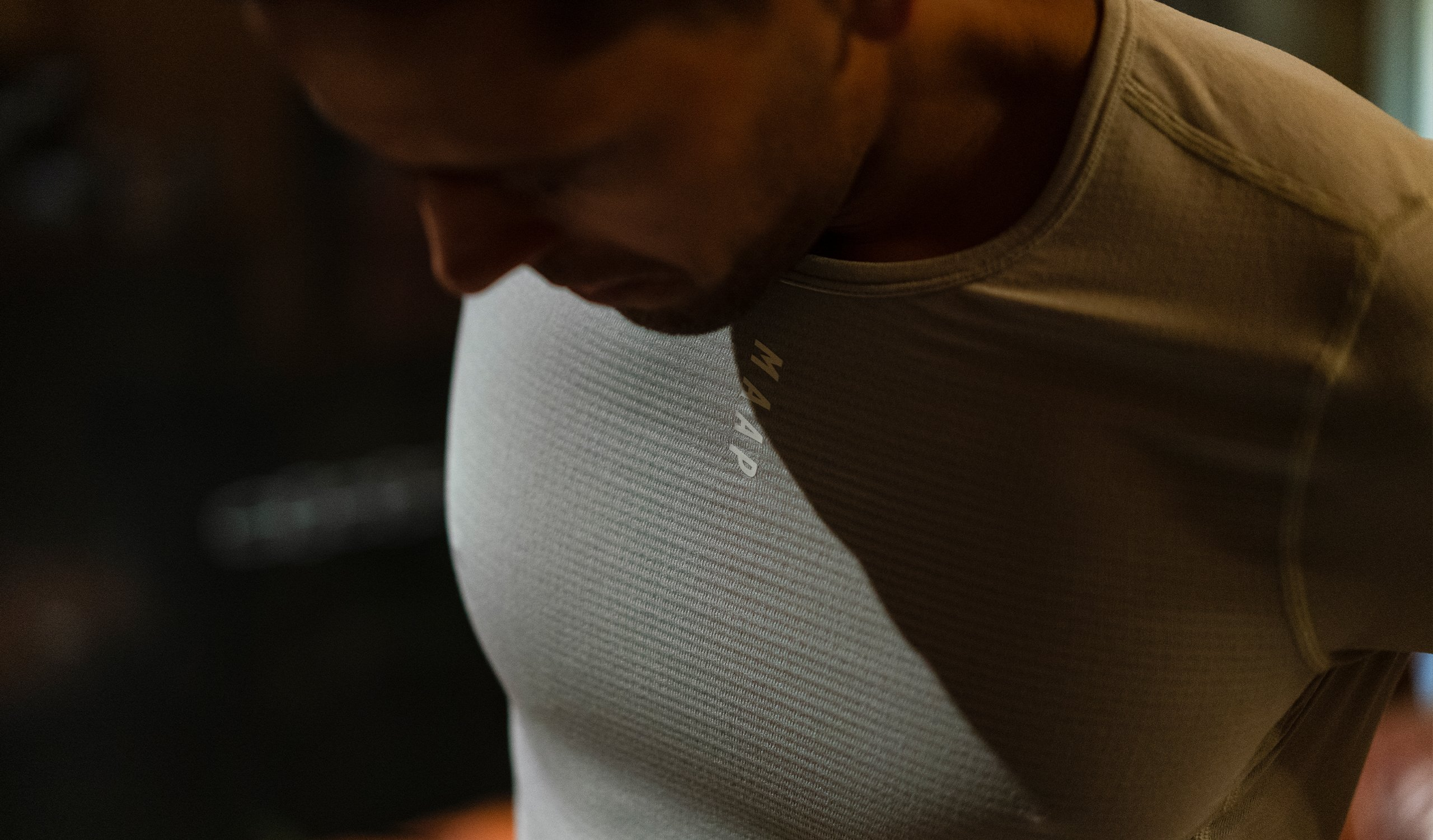 Men's Thermal Base Layer Tee / Cement